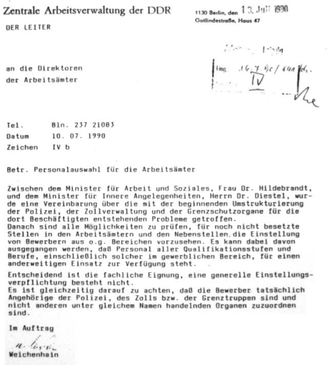 Der die Aktenvernichtung veranlasst hatte befiehlt der Sozialministerin Hildebrand...die Existenzängste den ehemaligen Diktaturträgern und Vollstreckern zu nehmen. Es folgte die Einstellung in die Gauck Behörde und Arbeitsämter...