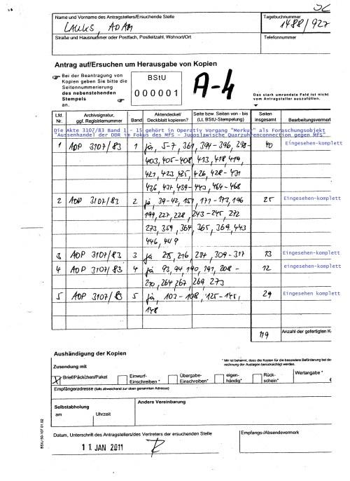 AOP 3107/83 - Operativ Vorgang