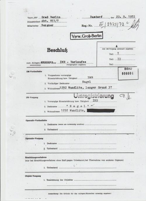 "IME ""Nagel"", 1292 Wandlitz, Langer Grund 37"