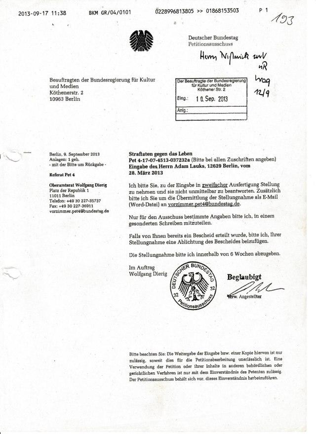 PETITION 13 vs Gauck  1