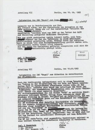FOLTER in der Strafvollzugsabteilung - Frauengefängnias Grünauer Str.
