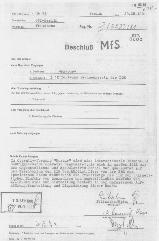 Die Unterschriften und Dienstgrade der Vorgesetzten von Fritsche unleserlich - fehlen
