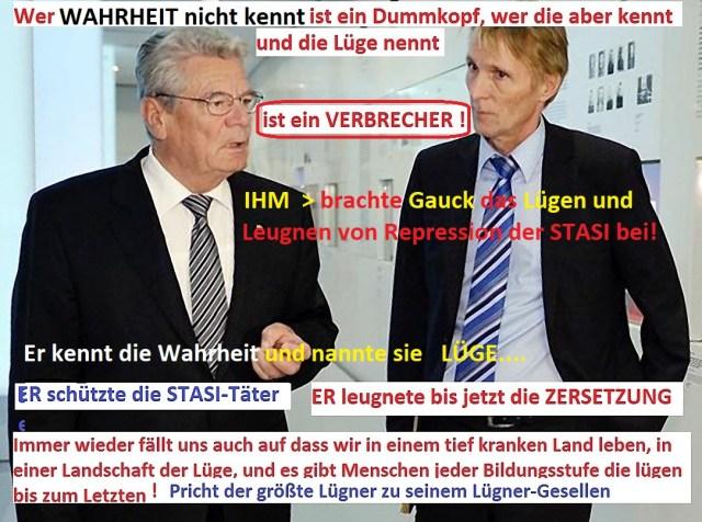 Wie gelogen, verschleiert unterdrückt wird hatte Knabe bei Gauck gelern