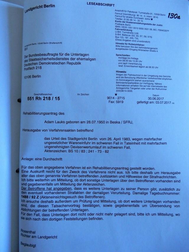 Strafrechtliche Reha 551 Rh 218.16
