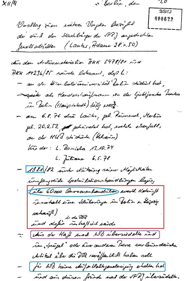 HA XXII -Terrorabwehr der STASI in Nöten 1987(!?)