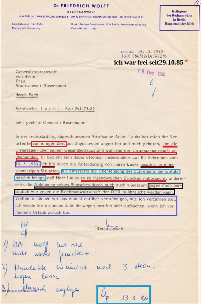 "RA Dr. Friedrich Wolff alias IMS ""Jura"""