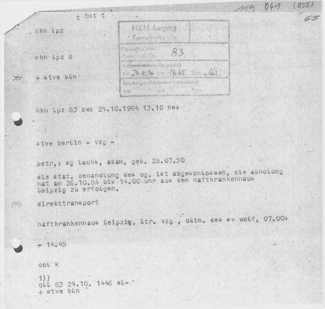 Zwangsweise Einweisung in die Forensik III 62 Tage