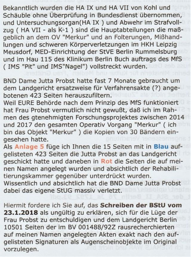 Lauks gegen Jahn und BStU