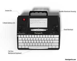 Hemingwrite Top Render Annotated