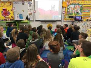 George Washington Carver Elementary Skype Author Visit