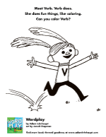 Fun Activity – Verb Coloring Sheet