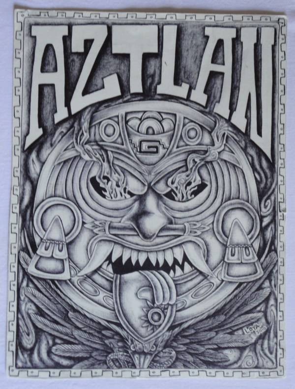 Aztec Prison Art Drawings