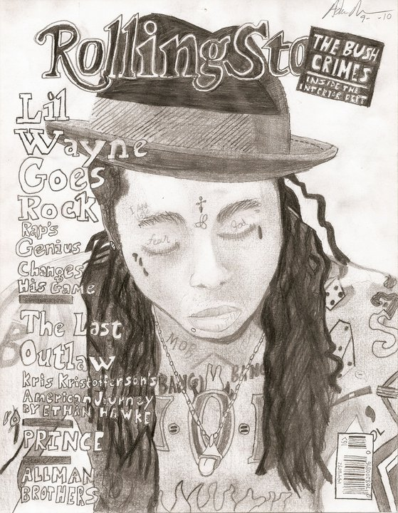Lil Wayne Rolling Stone Cover Drawing (2/2)