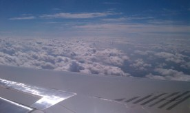 View from airplane flying to ELP