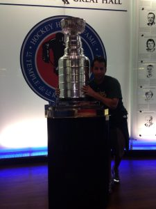 Guy we met at the Hockey Hall of Fame who helped with taking pictures