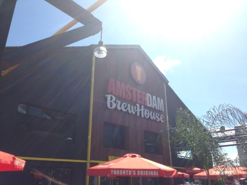 Outside the Amsterdam BrewHouse