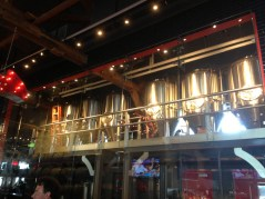 View from inside the Amsterdam BrewHouse restaurant area