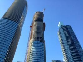 Building construction downtown Toronto