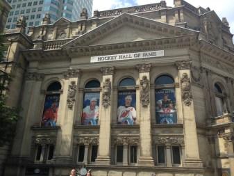Jon and Dan outside the Hockey Hall of Fame