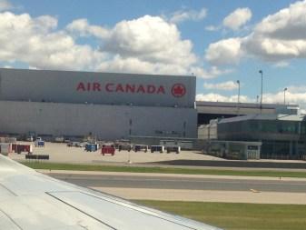 Plane landing in Canada