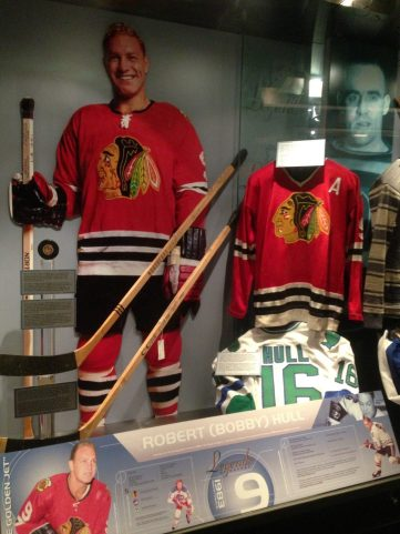 Bobby Hull display at the Hockey Hall of Fame
