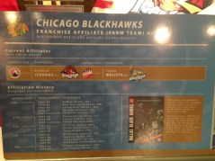 Rockford IceHogs plaque at HHOF