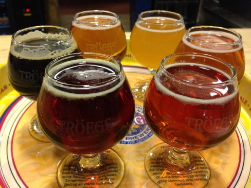 Tröegs beer flight