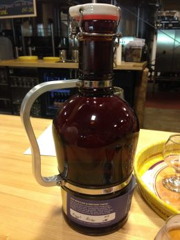 Growler full of Tröegs Nugget Nectar headed back to Wisconsin