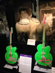 ZZ Top guitars and drum kit