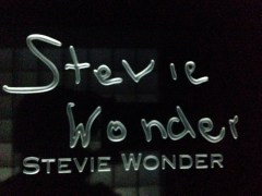 Stevie Wonder signature