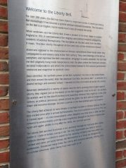 Liberty Bell plaque, Philadelphia