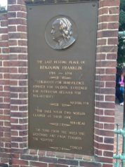 Resting place of Benjamin Franklin, Philadelphia
