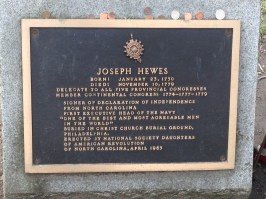 Joseph Hewes grave, Christ Church Burial Grounds, Philadelphia
