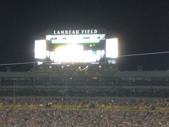 Shot of the new scoreboard