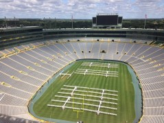 View of the field from top of the stadium