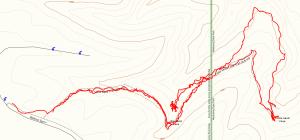 Wyalusing State Park - Sand Cave Trail hiking path log
