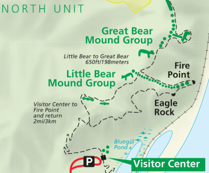 Effigy Mounds National Monument - Fire Point Trail map