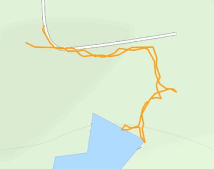 GaiaGPS hiking data @ Lake Wissota State Park