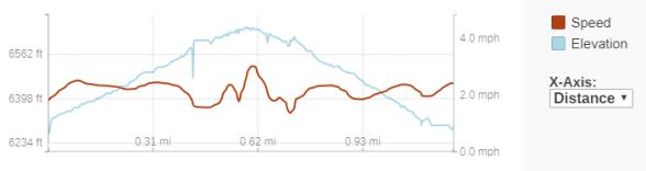 GaiaGPS hiking data @ Clingmans Dome