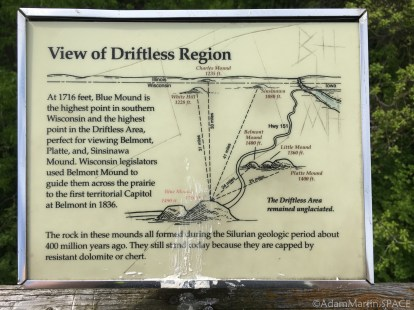 Flint Rock Nature Trail - Geology sign