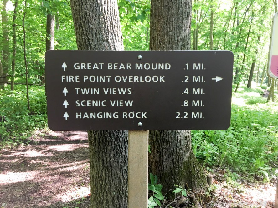 Effigy Mounds National Monument - Trail mileage sign