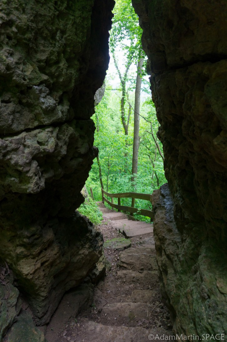 Wyalusing State Park - View through rock doorway