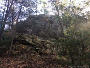 Mill Bluff State Park - Backside of Devils Monument bluff