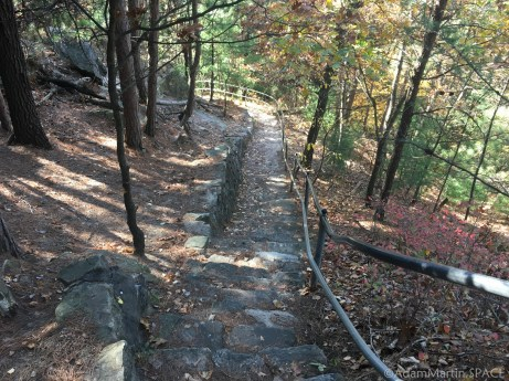Mill Bluff State Park - Going down the stone stairs