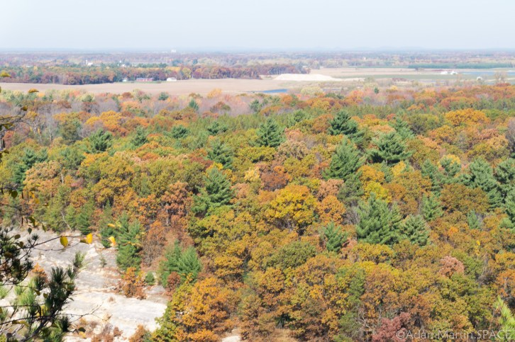 Mill Bluff State Park - View from atop Mill Bluff