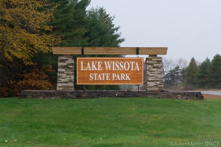 Lake Wissota State Park - Entrance sign