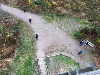 Timms Hill - View down from tower