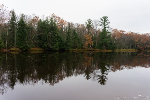 Dells of the Eau Claire River - Calm water mirror reflection