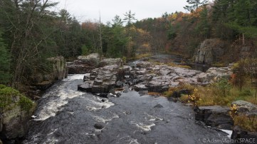 Dells of the Eau Claire River - View looking downstream from bridge