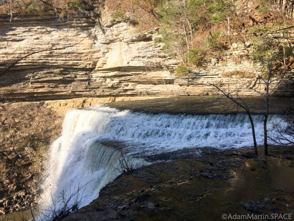 Burgess Falls State Park - View from the side of the big falls